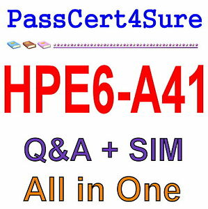 Details about HP Applying Aruba Switching Fundamentals for Mobility  HPE6-A41 Exam Q&A+SIM