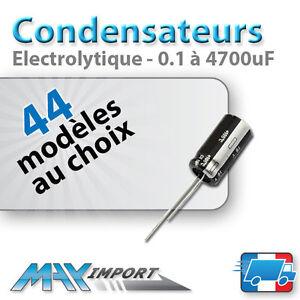 Condensateur-chimique-electrolytique-Radial-Lots-multiples-prix-degressif