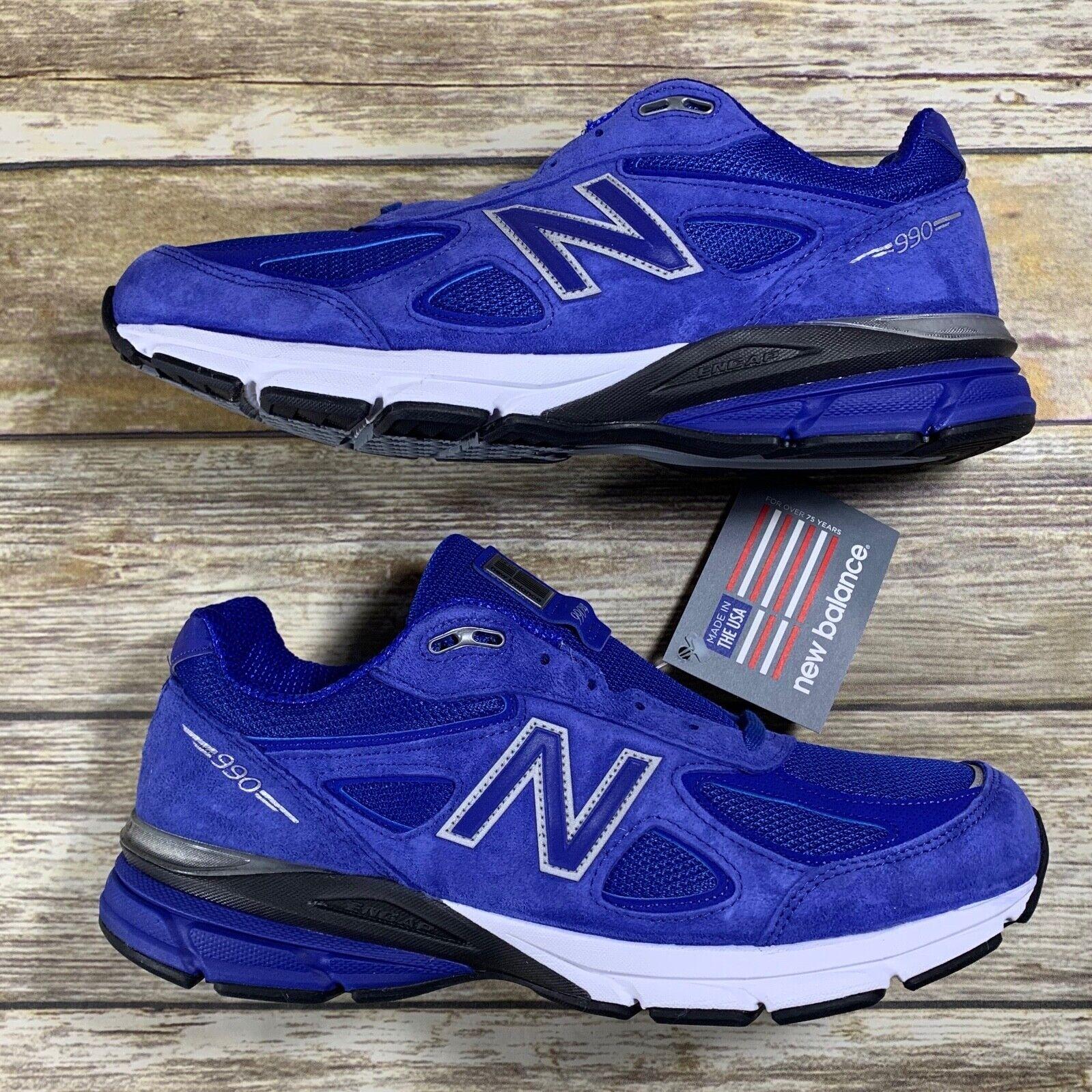 nouveau   Hommes 990 Chaussures De Course UV bleu argent-M990RY4