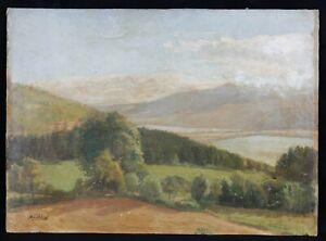 Maurice-Auguste-Cabuzel-1878-Genannt-Anleitung-Landschaft-Berg-Alpen-Lyon