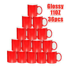 Us Stock 36pcs Red Glossy 11oz Color Changing Mugs Blank Sublimation Magic Cup