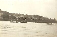 WWI German Real Photo PC- Pioneers- Combat Engineers- Pontoon Bridge Boat