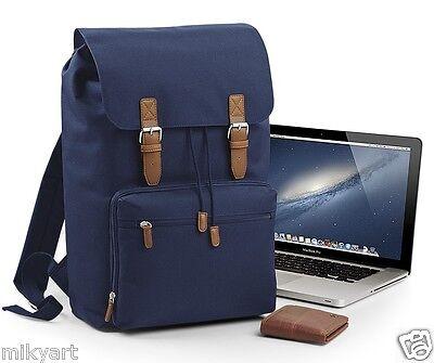 "Borsa Zaino vintage per laptop fino 17"" computer portatile 100% poliestere 600D"