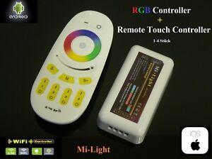 Mi-Light-2-4g-LED-RGB-Controller-4-Zone-Touch-Panel-TELECOMANDO-WIFI-WLAN