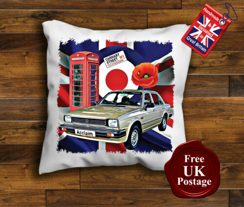 Triumph Acclaim Cushion Poppy, Union Jack Triumph Acclaim Cushion Cover