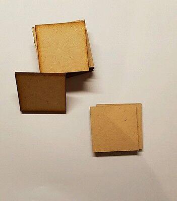 Aspirante Basi Quadrate 10x 3 Mm Laser Cut Mdf 25mm X 25 Mm Wargames Bolt Action- Forte Imballaggio