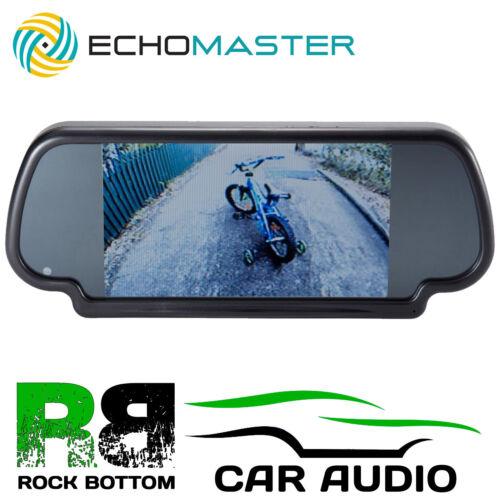 """Echomaster coche trasera vista revertir ESPEJO Y LCD monitor de pantalla de 7/"""" pulgadas construido en"""