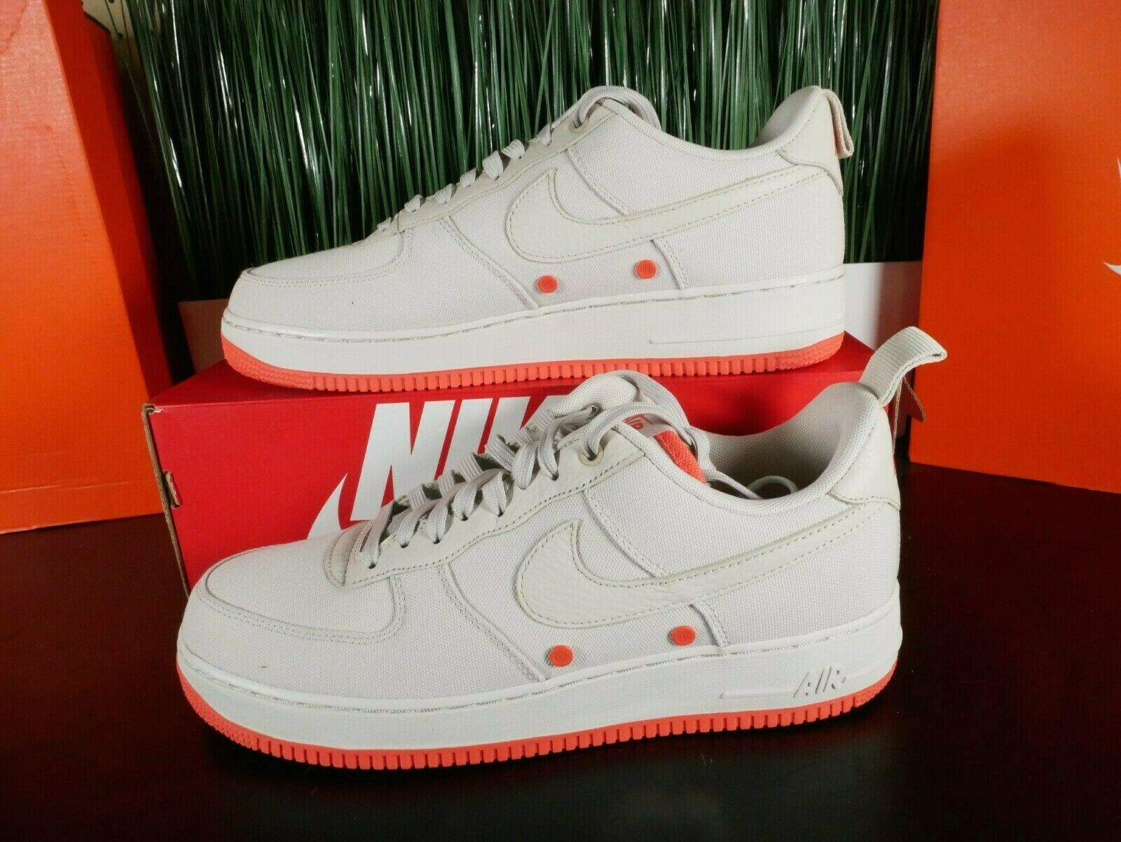Nike Air Force 1 '07 Low Canvas Desert Sand Mens Shoes 579927 001 Size 12