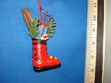 Skiing Ornament Ski Boot with Skiis 85219 539