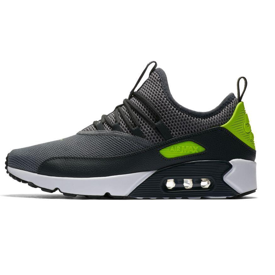 Nike air max 90 uomini ed nuovo autentico bene grey / volt ao1745-003 antracite scuro