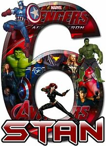 avengers superheroes birthday party t shirt iron on transfer