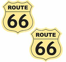 Route 66 x 2 Stickers USA Motorcycle Car 75x80mm Decals Quality Vinyl Label
