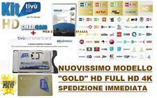 """CAM+CARD TivuSat HD-4K CERTIFICATA TV SAT NUOVO MODELLO CAM E CARD """"GOLD"""" !!!"""