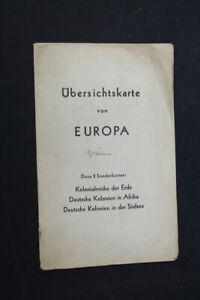 alte-Karte-Ubersichtskarte-von-Europa-old-vintage-Sammler