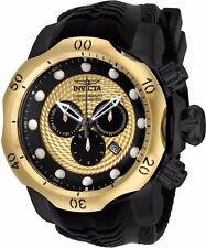 Invicta Men's 54mm Venom Quartz Chronograph Gold Dial Black Rubber Watch 20444