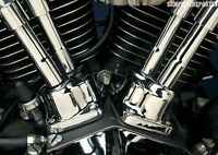 Chrome Lifter Tappet Block Covers For Harley Evolution Big Twin 84-99