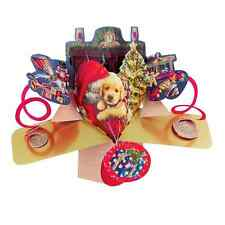 Cute Puppy Christmas Pop-Up Greeting Card Original Second Nature 3D Pop Up Cards