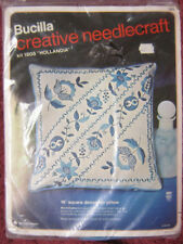 Bucilla Creative Needlecraft Jacobean Moderne 16 Square Pillow #2040 Crewel