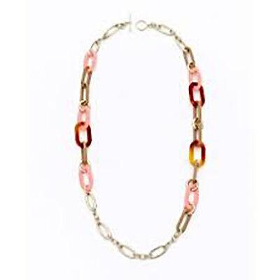 Ann Taylor Loft Women/'s Crystal Pearl Gold Chain Bib Tie Necklace NWOT 59
