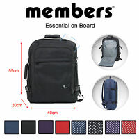 50x40x20 Members LIGHTWEIGHT Hand Luggage Cabin Bag Backpack RYANAIR EASYJET