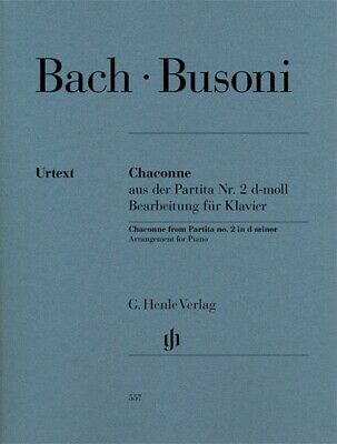 Chaconne from Partita No Bach Piano 051481187 2 in D Minor Sheet Music J.S