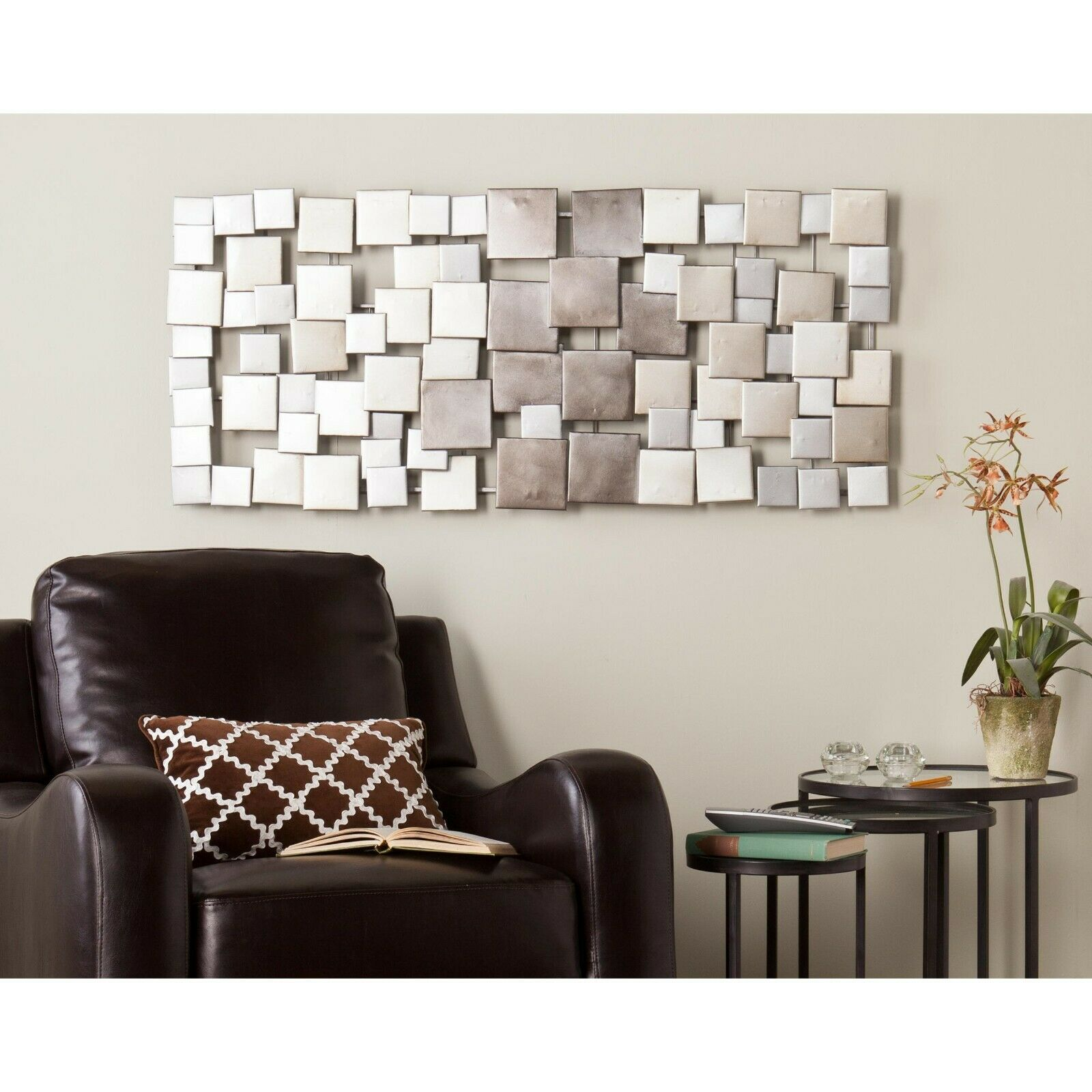 Large Metal Sculpture Abstract Modern Silver Wall Art Contemporary Modern Decor For Sale Online