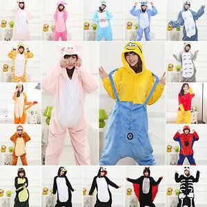 19-Hot-Kids-Adults-Animal-Kigurumi-Pajamas-Cosplay-Sleepwear-Costumes-Unisex