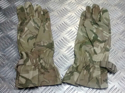 Genuine British Military MTP Multi Camo Leather Combat Gloves ODDS All Sizes