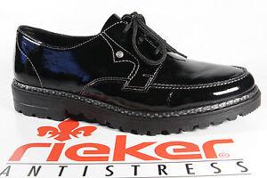 Rieker-Damen-Schnuerschuhe-Halbschuhe-Sneakers-schwarz-54804-NEU