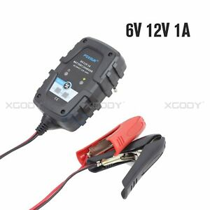 FOXSUR-Battery-Charger-Maintainer-Tender-AGM-GEL-WET-Motorcycle-ATVs-6V-12V-1A