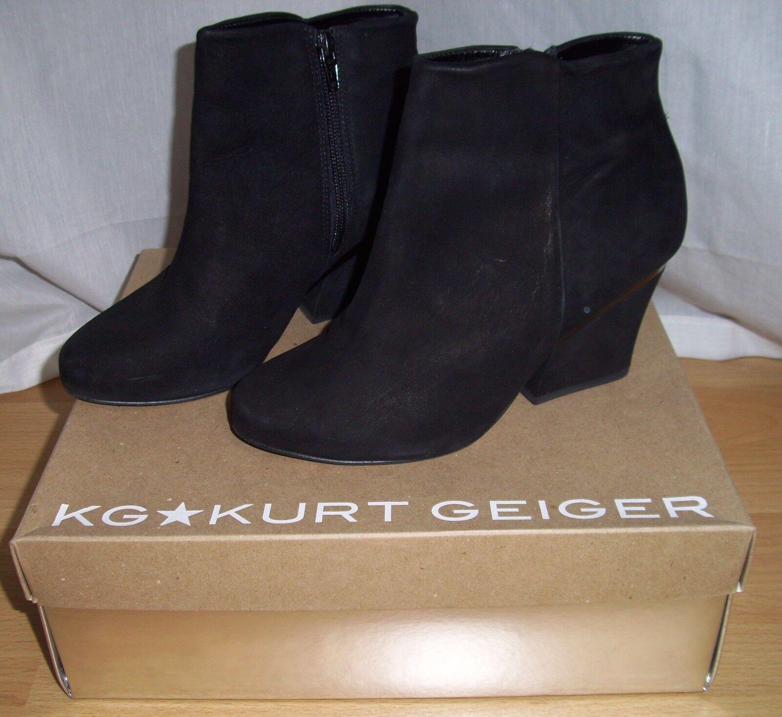 migliore qualità Splendida Kurt Geiger Tronchetti-stivali Whisper 37 37 37 camoscio M. LA SCATOLA ORIGINALE COME NUOVO  negozio a basso costo