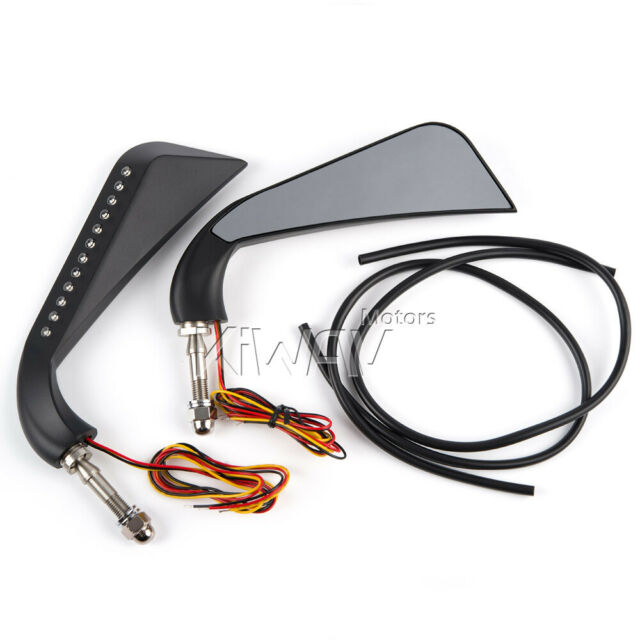 Axe led side Mirrors genuine Black for H-D V-ROD Screaming Eagle AU NSW STOCK