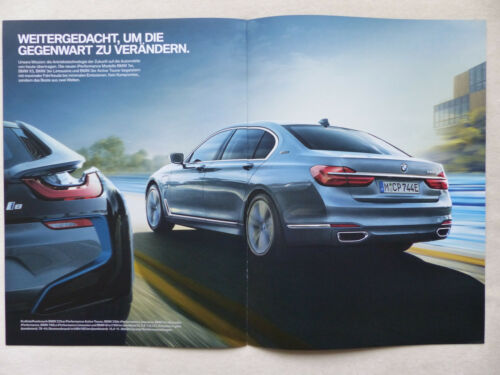 BMW Neue Antriebe eDrive i8 330e 740 Le iPerformance Prospekt Brochure 2016
