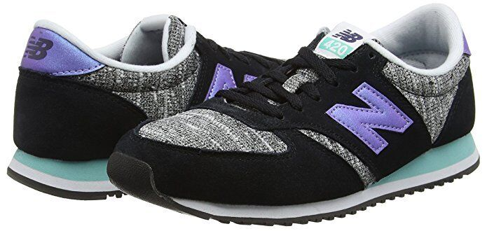New balance para mujer 420 Low Top de Superdry Zapatos Tenis Negro Púrpura wl420kic UK8