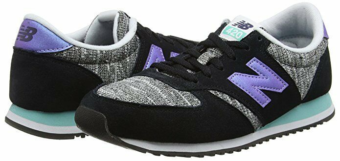 New balance para mujer 420 Low Top de Superdry Zapatos Tenis Negro Púrpura wl420kic UK6