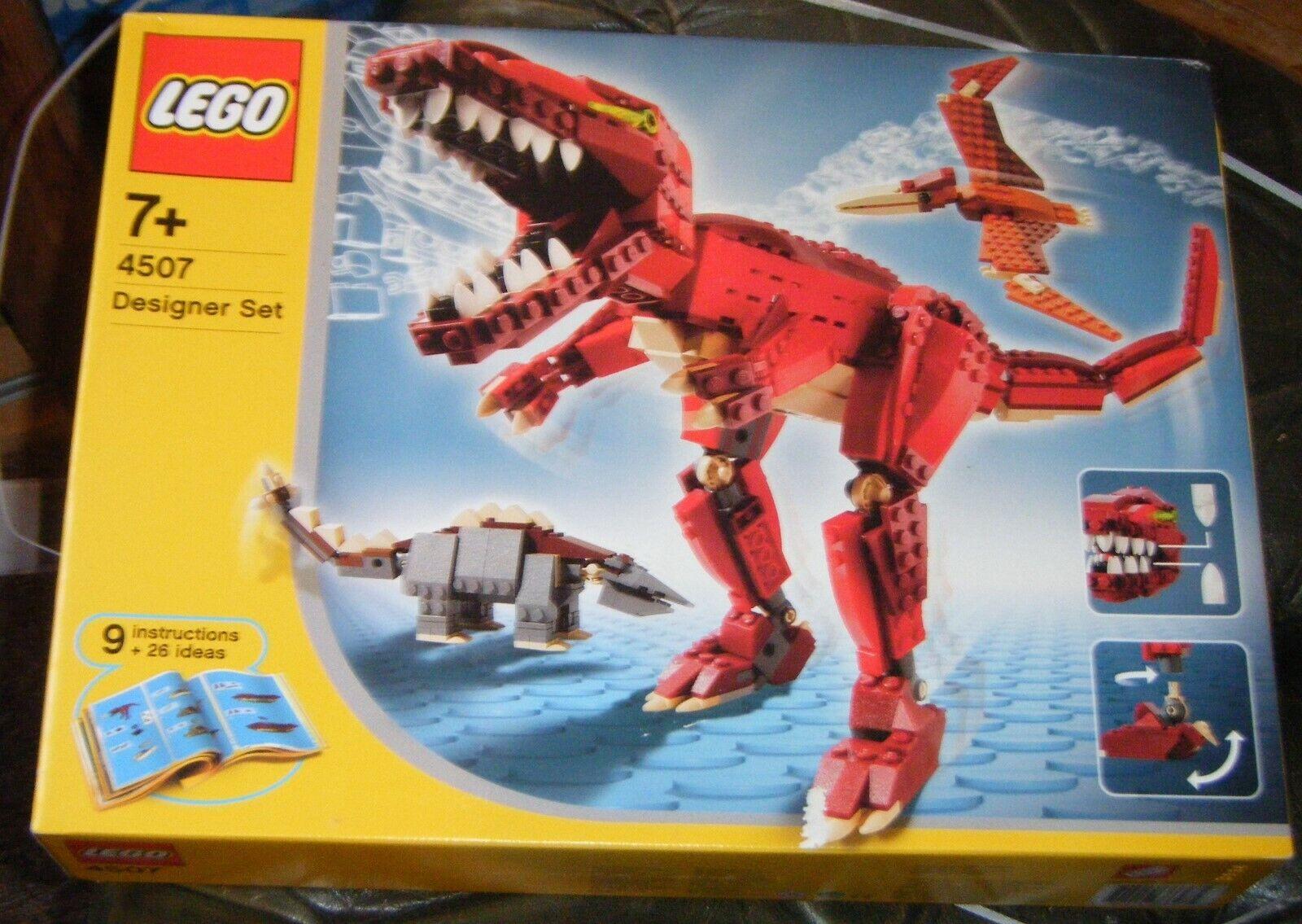 LEGO Designer Set 4507-Creature Preistoriche-Nuovo, sigillato in fabbrica