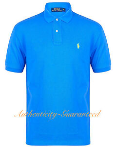 Ralph Lauren Mens Classic Fit Short Sleeve Polo Shirt Blue S - XXL ... 325dde5c0bbf