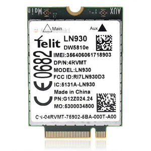 Dell Wireless DW5810e Telit LN930 NRR39 4G/LTE/DC-HSPA+ WWAN NGFF Module Card