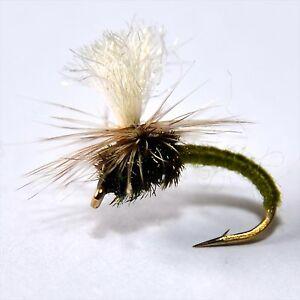 12 Assorted Klinkhammers Trout Fly Fishing Flies HARES EAR /& ADAMS BLACK