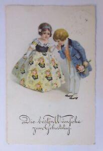 Geburtstag, Kinder, Mode, Blumen, 1930 ♥ (42185)