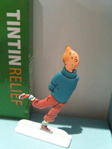 Figurine métal Tintin patineur MOULINSART