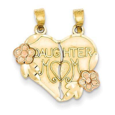 14k Gold Two-tone Break-apart Mother & Daughter Pendant - SKU #130997