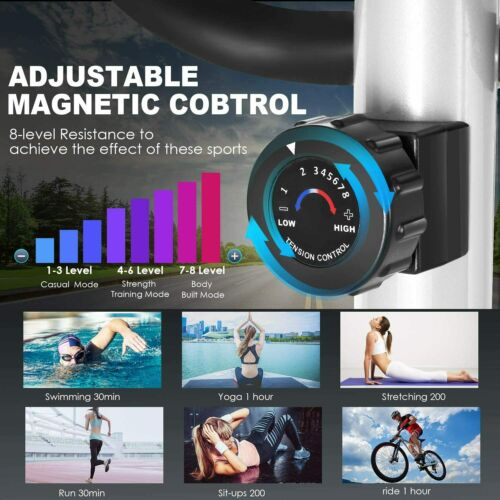 Details about  /ANCHEER Magnetic Elliptical Exercise Training Machine Home-Gym Fitness Mute USA