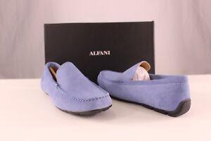 Alfani-Men-039-s-Dress-Shoes-Kendric-Suede-Drivers-Denim-Grey-Multi-Sizes-NIB-TFI