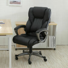 Black Pu Leather High Back Office Chair Adjustable Executive Task Ergonomic Comp