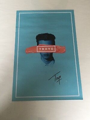 PERSONALLY SIGNED//AUTOGRAPHED TROYE SIVAN TRXYE FRAMED CD PRESENTATION