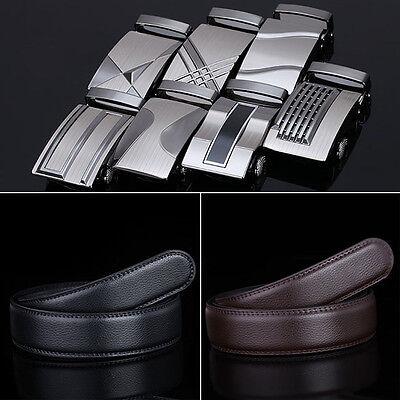 2018 New Men Fashion Belt Dress Leather Waist Strap Belts Automatic Buckle