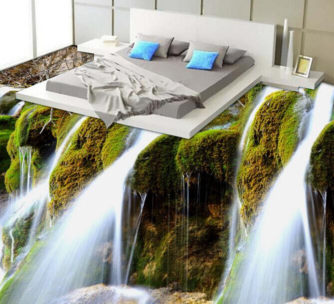 3D Wasserfall 751 Fototapeten Wandbild Fototapete Tapete Familie DE Lemon
