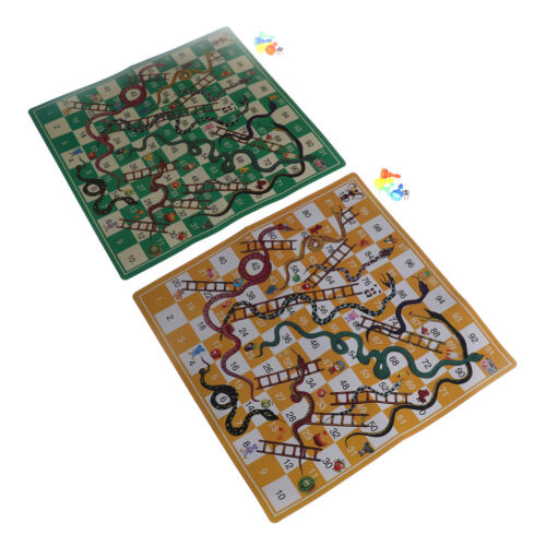 Kids Folding Snake Chess Toys Portable Snakes ladders Puzzle Game Preschool Toys
