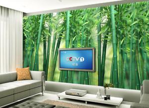 3D Green Bamboo Forest 999 Wallpaper Mural Paper Wall Print Wallpaper Murals UK